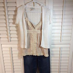 👜 Ann Taylor White Summer Sweater